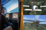 zkusebni let na simulatoru cessna
