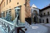 zamek zbiroh v zime
