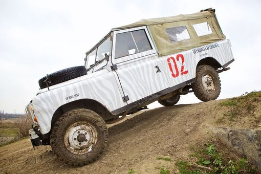 Off-road jízda v Land Rover
