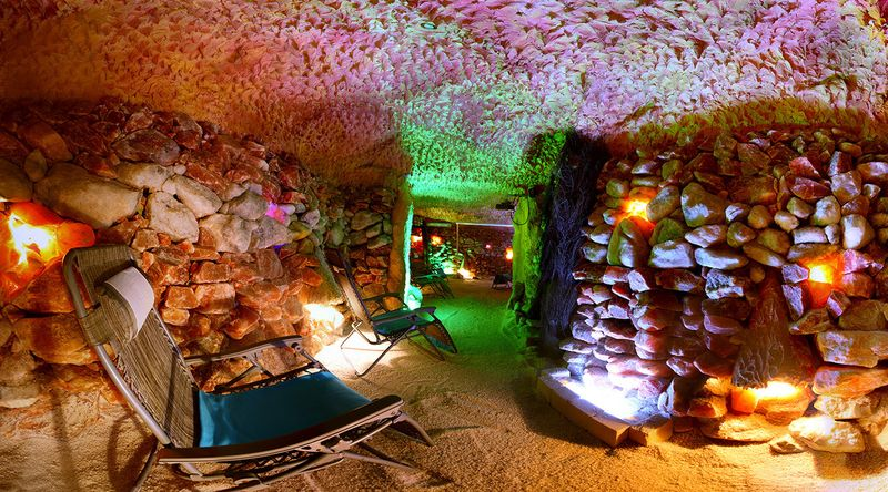 Privátní noční pobyt v solné jeskyni